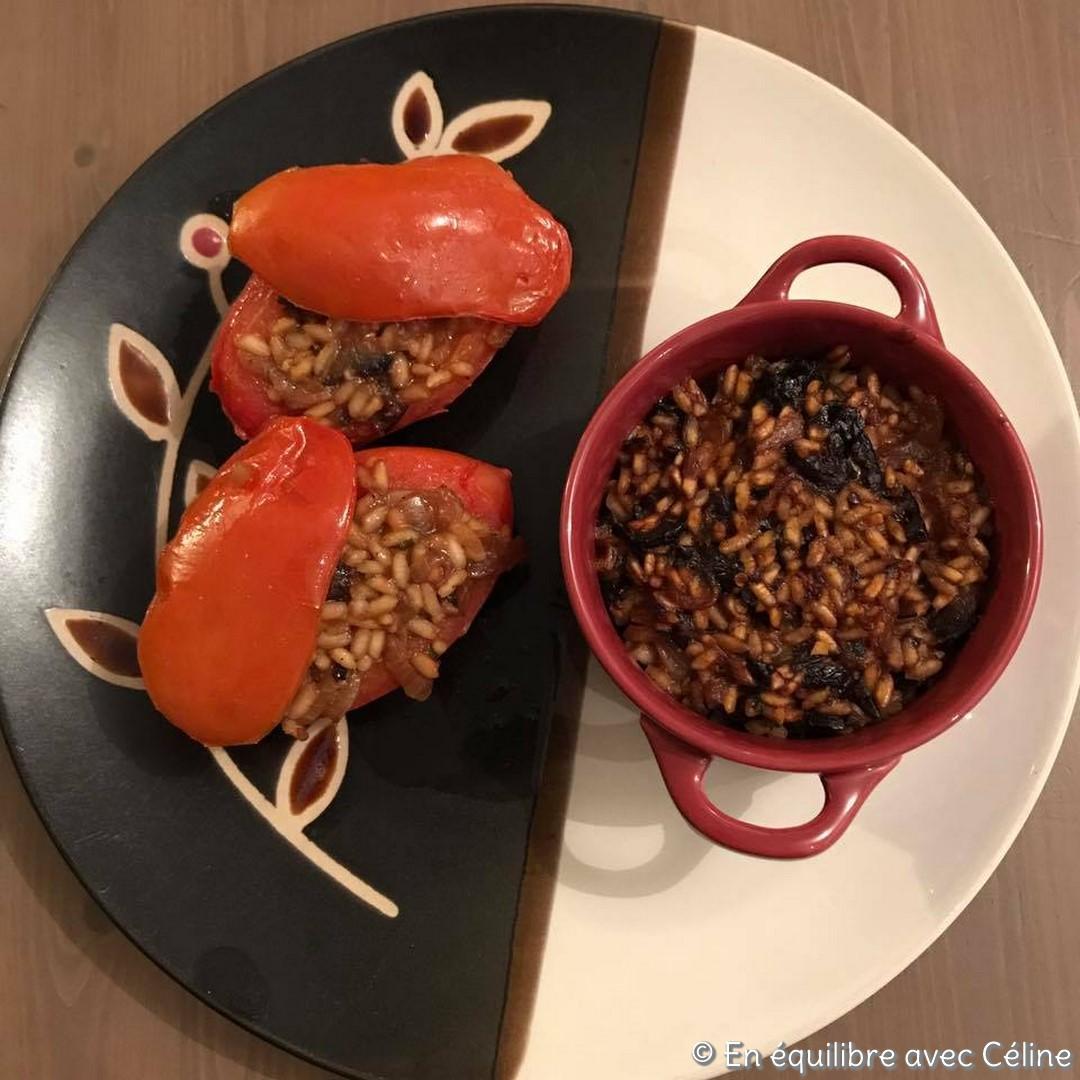 Tomates farcies au poisson 2