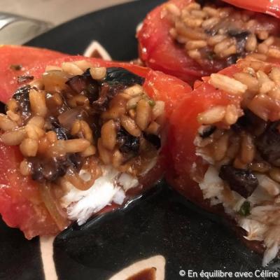 Tomates farcies au poisson