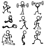 Stock illustration 13191855 stick figure people fitness