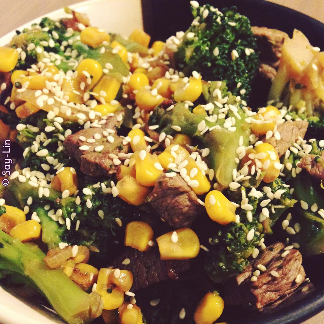 Wok de bœuf brocoli